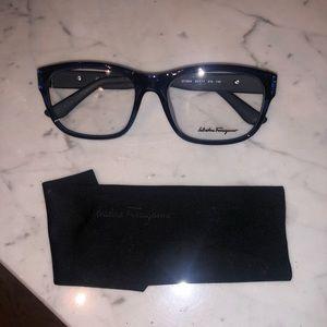 Salvatore Ferragamo Navy Blue Glasses Frames